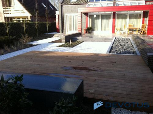 Houten Tuin Vlonders : Houten planken tuin vlonder in tuin andagames